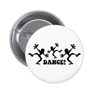 Crazy Dancers Dancing 6 Cm Round Badge