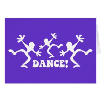 Crazy Dancers Dancing Greeting Card