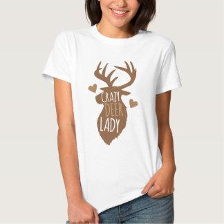 crazy deer lady tshirts