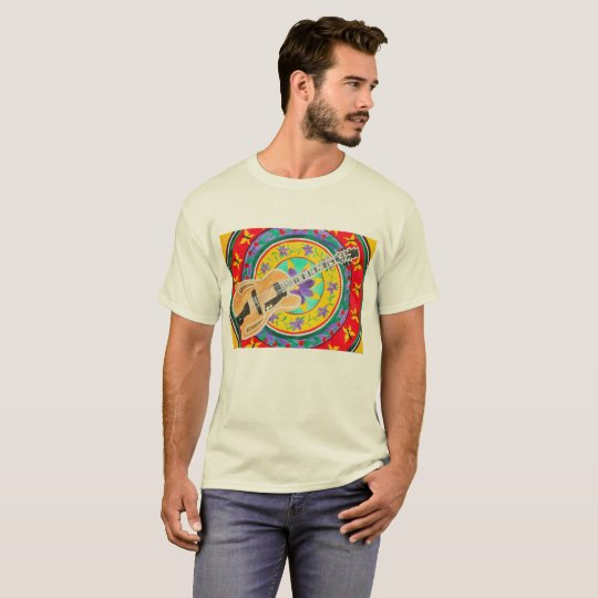 Crazy Diego Watercolor Guitar T-Shirt