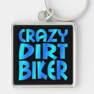 Crazy Dirt Biker in Blue Key Ring