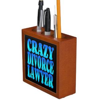 Crazy Divorce Lawyer Pencil Holder