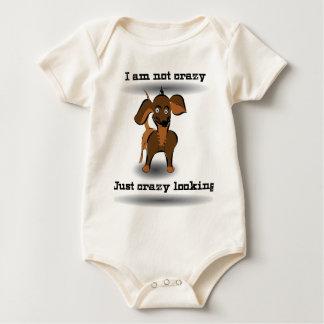 crazy dog baby bodysuit