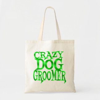 Crazy Dog Groomer in Green Tote Bag