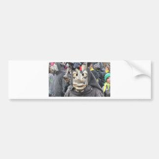Crazy Donkey Mask Bumper Stickers