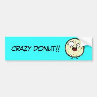 Crazy Donut with sprinkles Bumper Stickers
