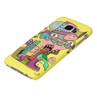 Crazy doodle samsung galaxy s6 cases