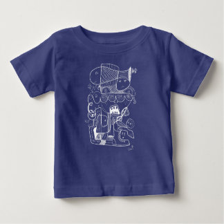 Crazy doodle white sketch baby T-Shirt