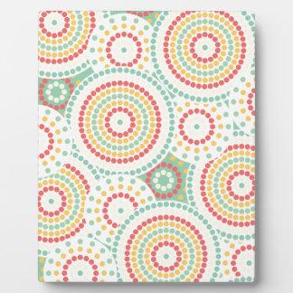 Crazy dot pattern photo plaque
