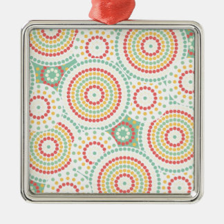 Crazy dot pattern Silver-Colored square decoration