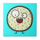 Crazy Doughnut sprinkles vanilla icing sweet Tile