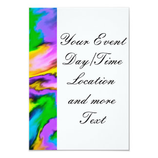 """crazy effects 18F yellow 3.5"""" X 5"""" Invitation Card"""
