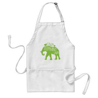 Crazy Elephant Lady Standard Apron