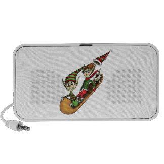 Crazy Elf Sled Ride Notebook Speakers