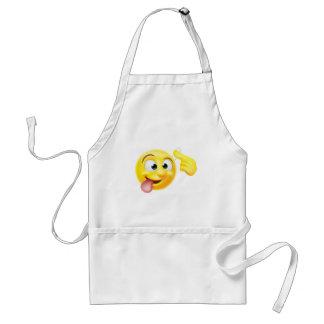 Crazy Emoji Emoticon Character Standard Apron