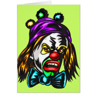 Crazy Evil Clown Stationery Note Card