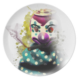 Crazy Evil Clown Toy Plate
