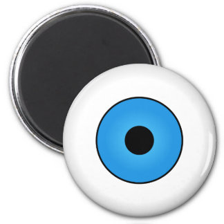 Crazy Eyeballs Halloween Fridge Magnet Blue