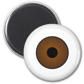 Crazy Eyeballs Halloween Fridge Magnet Brown