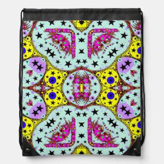 Crazy Eyes Pop Pattern Drawer Bags Rucksack