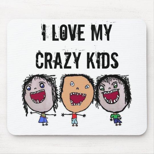 Crazy Face Cartoon Kids Mouse Mat