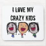 Crazy Face Cartoon Kids Mousepad