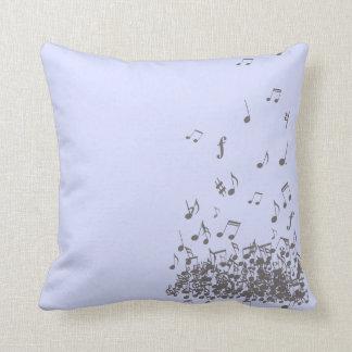 Crazy falling notes pillow