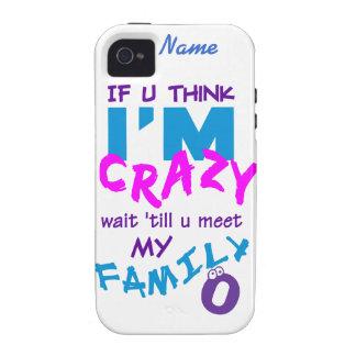 Crazy Family custom iPhone 4 Case-Mate iPhone 4 Cases