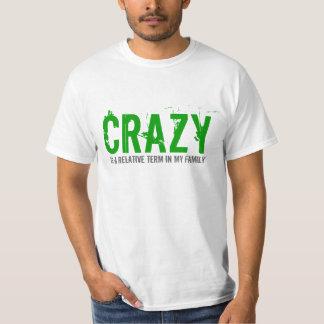 Crazy Family Term Text Design T-shirt