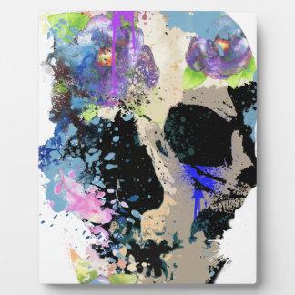Crazy Fantasy Skull Skeleton Paint Colourful Plaque