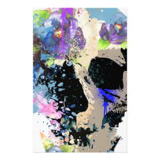 Crazy Fantasy Skull Skeleton Paint Colourful Stationery