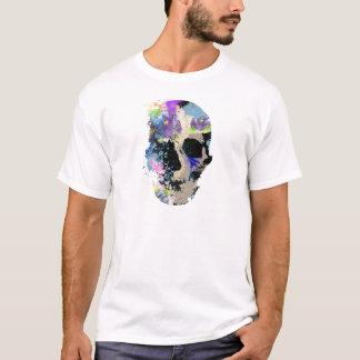 Crazy Fantasy Skull Skeleton Paint Colourful T-Shirt
