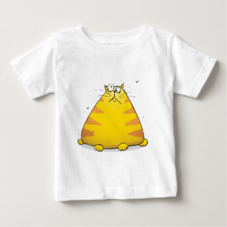 Crazy Fat Cat Funny Baby T-shirt - White