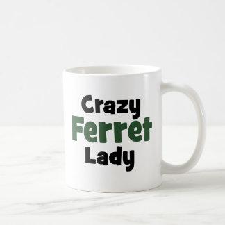 Crazy Ferret Lady Classic White Coffee Mug