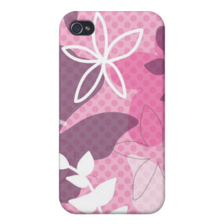 Crazy fin iphone case with polka dots and flowers cases for iPhone 4