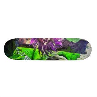 Crazy flower and plants 18.1 cm old school skateboard deck