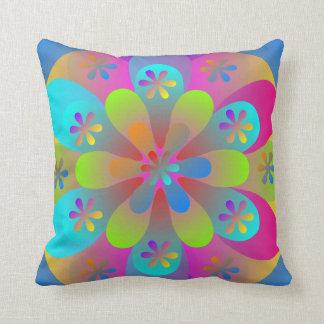 Crazy Flower Throw Pillow Cushion