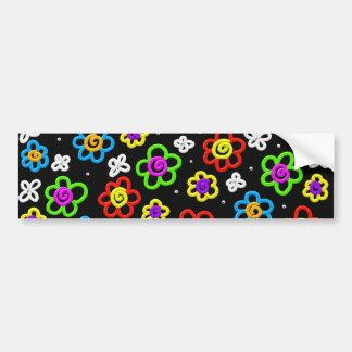 Crazy Flowers Bumper Sticker