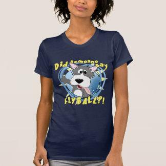 Crazy Flyball Dog Ladies Dark T-Shirt