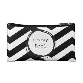 Crazy Fool Funny Makeup Bag