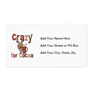 Crazy For Cocoa Shipping Label