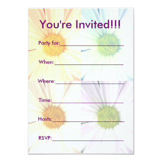 Crazy for Daisies Party Invititation 11 Cm X 16 Cm Invitation Card