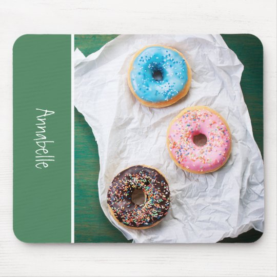 Crazy for Doughnuts | Personalised Mouse Mat