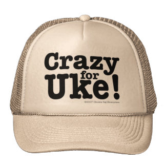 Crazy for UKE Designer Cap Trucker Hat