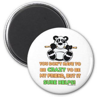 Crazy Friends 6 Cm Round Magnet
