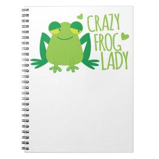 Crazy Frog Lady Notebooks