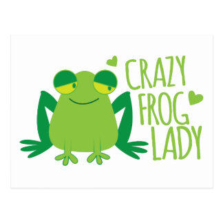 Crazy Frog Lady Postcard