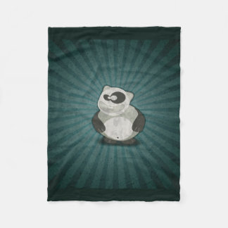 Crazy Fun Panda Fleece Blanket