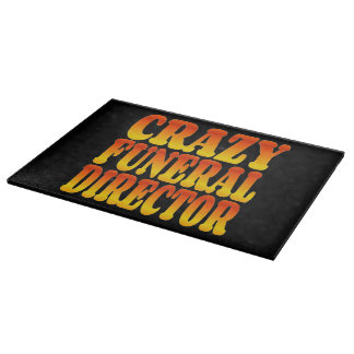 Crazy Funeral Director in Bright Colors Cutting Board