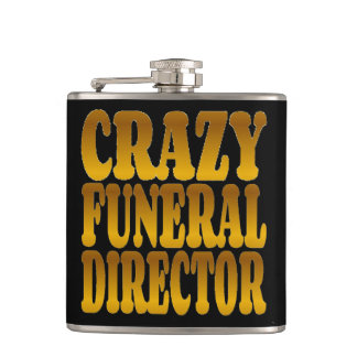 Crazy Funeral Director in Gold Flasks